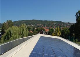 Nagykovácsi Általános Iskola napelemes rendszere